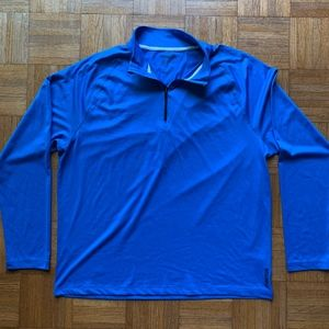 Reebok Royal Blue Black Zip Pull Over, Size XL